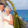 Senior Couple Getting Married In Beach Ceremony — Stock Photo