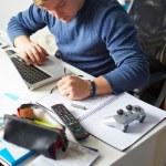 Teenage Boy Studying — Foto Stock