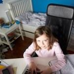 Girl Studying — Stock Photo