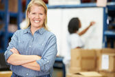 Portrait Of Worker In Distribution Warehouse — Stock Photo