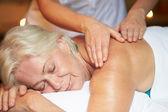 Senior Woman Having Massage In Spa — Stock Photo