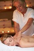 Woman Having Massage In Spa — Stock Photo