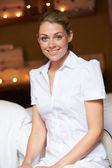 Portrait Of Female Masseuse At Health Spa — Stock Photo