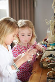 Two Girls Playing With Jewelry And Make Up — Stock Photo