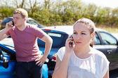 Driver Making Phone Call — Stock Photo