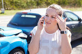 Driver Making Phone Call — Stock Photo