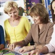 Women Making Quilt Together — Stock Photo