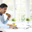 Man Enjoying Breakfast — Stock Photo #36972311