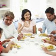 Indian Family Eating — Stock Photo