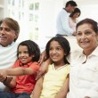 Indian Family at home — Stock Photo #36973225