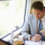 Businessman traveling — Stock Photo
