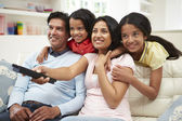 Indian Family at home — Stock Photo