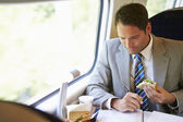 Businessman traveling — Stockfoto
