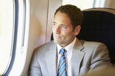 Businessman traveling — Stock Photo