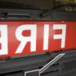 Detail of the front of a fire engine — Stock Photo #4758384