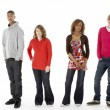 Group Of Four Teenagers In Studio — Stock Photo #4814783