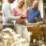 Couple shopping in antique shop — Stock Photo #4815583