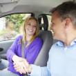 Girl Passing Driving Test — Stock Photo #48299959