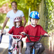 Children Riding Bikes — Stock Photo
