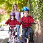 Children Riding Bikes — Stock Photo #48295767