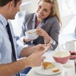 Couple Having Breakfast — Stock Photo #48296125