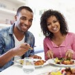 Couple Eating Meal At Home — Stock Photo #48297545