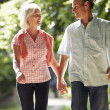Couple Walking Along Countryside Path — Stock Photo #48299605