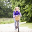 Girl Riding Bike — Stock Photo #48299935