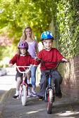 Children Riding Bikes — Stock Photo