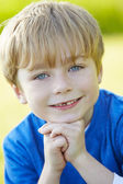 Young Boy In Countryside — Stock Photo