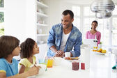 Family Having Breakfast Together — Stock Photo