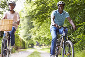 Mature Couple On Cycle Ride — Stock Photo