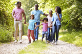 Family On Country Walk — Stock Photo