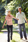 Couple Walking Along Countryside Path — Foto de Stock