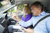 Girl Having Driving Lesson — Foto Stock