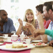 Friends Having Dinner Party — Stock Photo #48301527