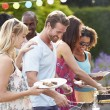 Friends Having Outdoor Barbecue — Stock Photo #48301571