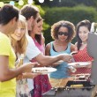 Friends Having Outdoor Barbecue — Stock Photo #48301579
