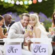 Bride And Groom Enjoying Meal — Stock Photo #48301719