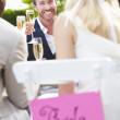 Friends Proposing Champagne Toast — Stock Photo #48301785