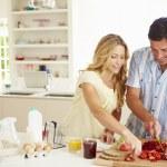 Parents Preparing Family Breakfast — Stock Photo #48302071