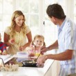 Father Preparing Family Breakfast — Stock Photo #48302135