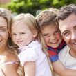 Happy Family In Garden — Stock Photo #48302291