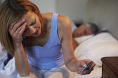 Wife Suffering From Insomnia — Stock Photo