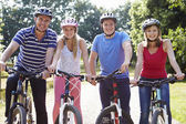 Family On Cycle Ride — Stock Photo