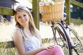 Teenage Girl Relaxing On Cycle Ride — Stock Photo