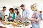 Group Of Friends Having Dinner — Stock Photo