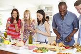 Group Of Friends Having Dinner — Stock Photo