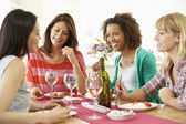 Group Of Women Eating Dessert — Stock Photo