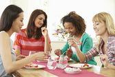 Group Of Women Eating Dessert — Stock Photo